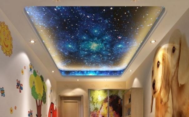 美丽的星空吊顶 深圳儿童房吊顶设计